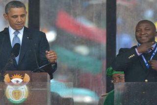 Meten de cabeza en el psiquiátrico al curioso intérprete del funeral de Mandela