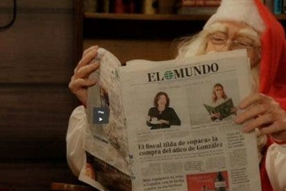 El regordete 'Papa Noel' que publicita Orbyt es el mismísimo... ¡Pedrojota!