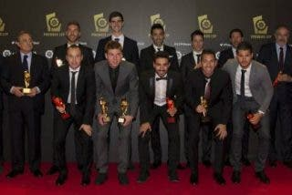 Los premiados por la Liga