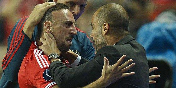 Guardiola da el Balón de Oro a Ribery