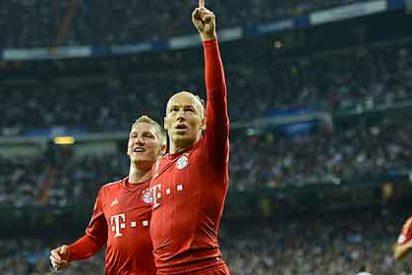 Robben pudo lesionarse... ¡al celebrar un gol!