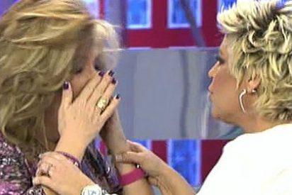 """Terelu Campos le amarga a Lydia Lozano su cumpleaños: """"Tía, eres una """"cerda"""""""