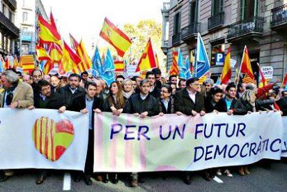 Y el himno nacional [español] sonó ante la sede de la Generalidad catalana