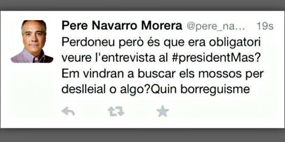 El PSC hace dimitir al 'community manager' de Pere Navarro por este tuit