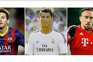 [VÍDEOS] Balón de Oro 2013: nominados Cristiano Ronaldo, Leo Messi y Frank Ribery