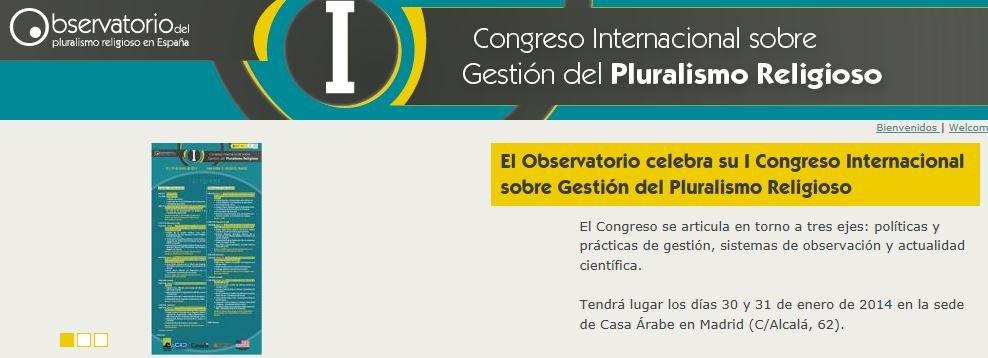 I Congreso Internacional sobre Gestión del Pluralismo Religioso