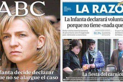 La prensa cortesana 'vuelca' en la rampa de los juzgados de Palma con el bandazo de la Infanta