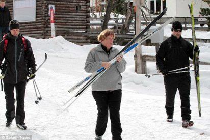 La canciller Merkel se pega una 'chufa' esquiando y estará de baja tres semanas