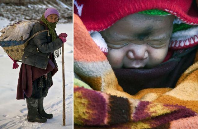 Una sufrida mujer recorre 72 kilómeros a 35 grados bajo cero para poder dar a luz