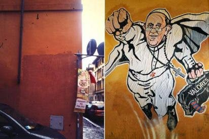 "Borran el graffiti del ""Superpapa"""