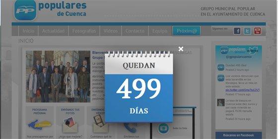 El PP coloca un calendario en su web para contar los días que le 'quedan' a Ávila