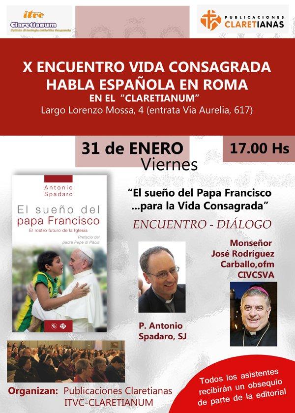 Rodríguez Carballo y Antonio Spadaro, en el X encuentro de vida consagrada en Roma