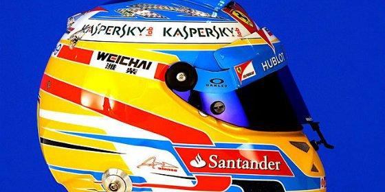 Así es el nuevo casco de Alonso