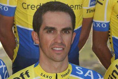 Contador presenta su nuevo maillot