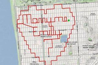 El romántico ciclista le pide en matrimonio a su novia dibujando con GPS un corazón