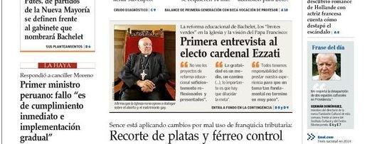 """El nuevo cardenal chileno: """"La Iglesia no se opone a dialogar sobre el matrimonio homosexual"""""""