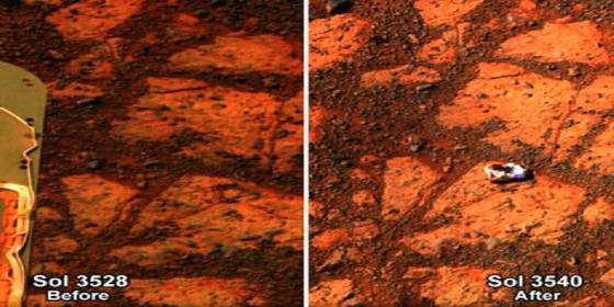 Aparece de repente en Marte un 'dónut relleno' y la NASA dice que no parece marciano