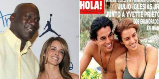 Michael Jordan le 'levanta' la novia a Julio Iglesias