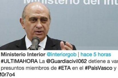 Las prisas tuiteras de Interior dan tiempo a ETA para destruir pruebas