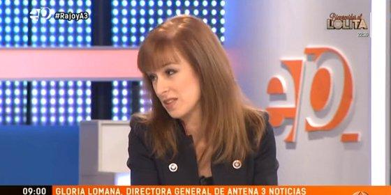 """Gloria Lomana: """"Busqué el titular 'Rajoy pide perdón por la corrupción', pero es un político que lleva 30 años de mili"""""""