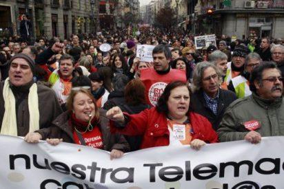 Trabajadores de Telemadrid se concentran para protestar por el ERE