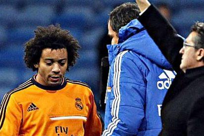 Carlo Ancelotti castigó a Marcelo por su 'pasotismo' en el calentamiento