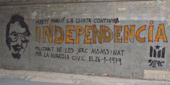 Homenaje de las juventudes de ERC a Martí Marcó, el terrorista de Terra Llure