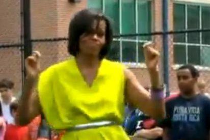 [Vídeo] Así de salerosa baila el 'Dougie' Michelle Obama con sus animosos invitados