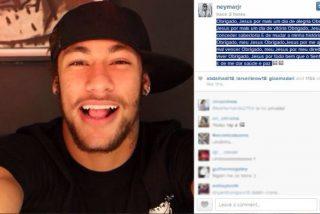 Y en mitad de la tormenta culé, Neymar sonríe en Instagram feliz como una perdiz