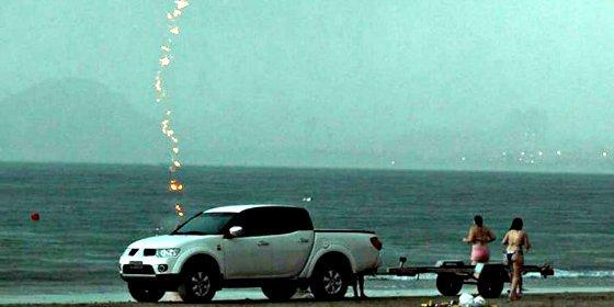 La foto del momento en el que una mujer muere alcanzada por un rayo