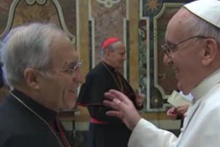 Francisco recibe a Rouco en la antesala del encuentro con el Camino Neocatecumenal