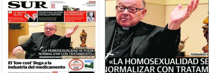 """El nuevo cardenal español dice que la homosexualidad es """"una deficiencia"""" como la hipertensión"""