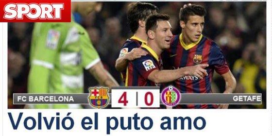 """Sport califica el regreso de Messi como la vuelta """"del puto amo"""""""