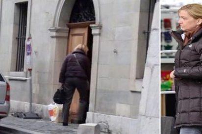 Primeras imágenes de una ojerosa Infanta Cristina entrando en su casa de Ginebra