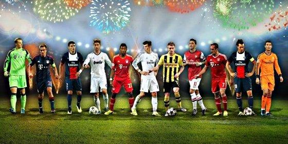 Tres jugadores del Real Madrid, Özil y nadie del Barça en el Once UEFA del Año