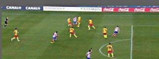 El árbitro pitó fuera de juego de Villa y 'tangó' un gol casi seguro al Atlético de Madrid