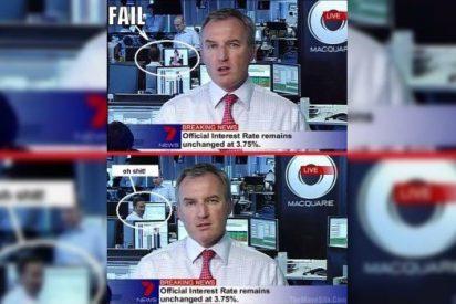 [Vídeo] Le sorprenden en directo mirando mujeres desnudas mientras el presentador de TV da la cara