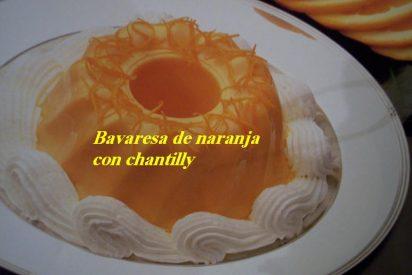 Bavaresa de naranja con chantilly