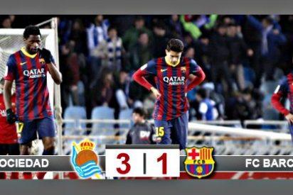 El Barça de Messi y Neymar sale desplumado de Anoeta y queda 3 puntos ya por detrás del Real Madrid