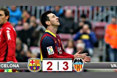 El Barça pega un petardazo, pierde en casa 2-3 con el Valencia y la Liga se calienta