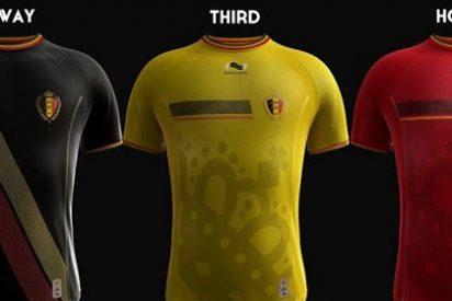 Las camisetas de Bélgica para el Mundial
