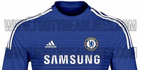 Así será la nueva camiseta del Chelsea para la próxima temporada.