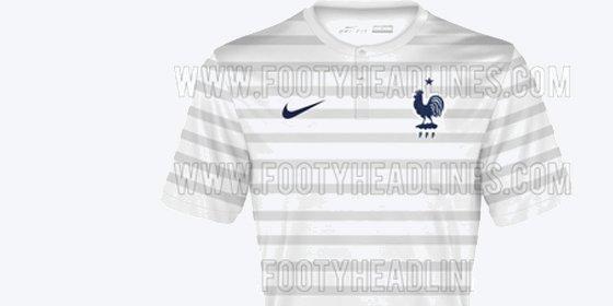 La camiseta que vestirá Francia como visitante en el Mundial