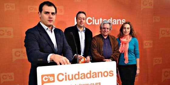 Javier Nart, Juan Carlos Girauta y Punset, candidatos de C's a las europeas