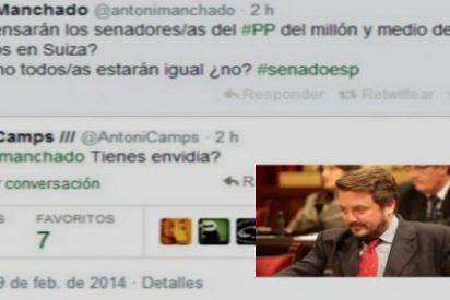 Camps pregunta en Twitter a un senador del PSOE si la pasta de Granados le da envidia