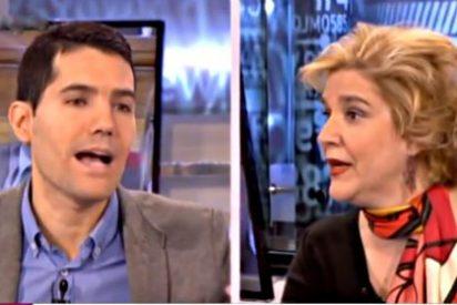 [VÍDEO] Espectacular 'espantada' al puro estilo Sálvame de Pilar Rahola cuando oye comparar al Gobierno de Mas con el franquismo