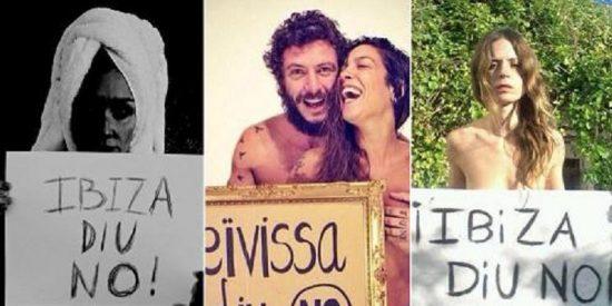 Los famosos siguen la estela de Paris Hilton y se desnudan contra los sondeos petrolíferos en Ibiza