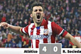 El Atlético de Madrid mete 4-0 a la Real Sociedad y se pone líder solitario de la Liga