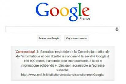 Google pierde la batalla en Francia y se ve obligado a 'manchar' su buscador