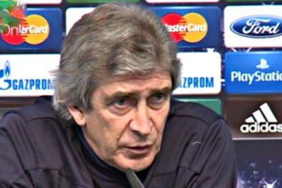 Pellegrini se disculpa 'a su manera' con el árbitro
